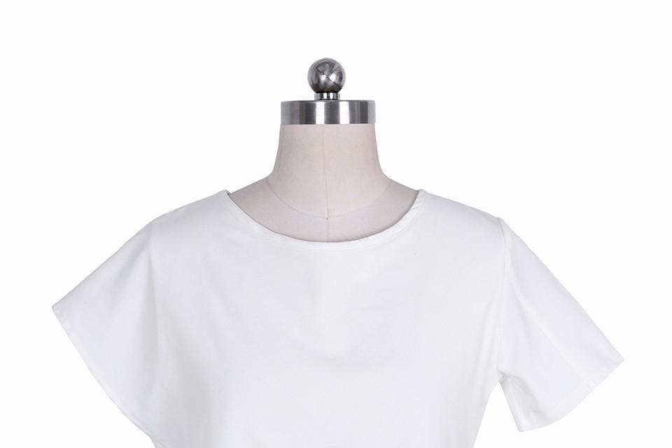 HTB1ByKjNpXXXXcDXpXXq6xXFXXXF - Short Sleeve White Chiffon Blouses Womens Clothing Summer