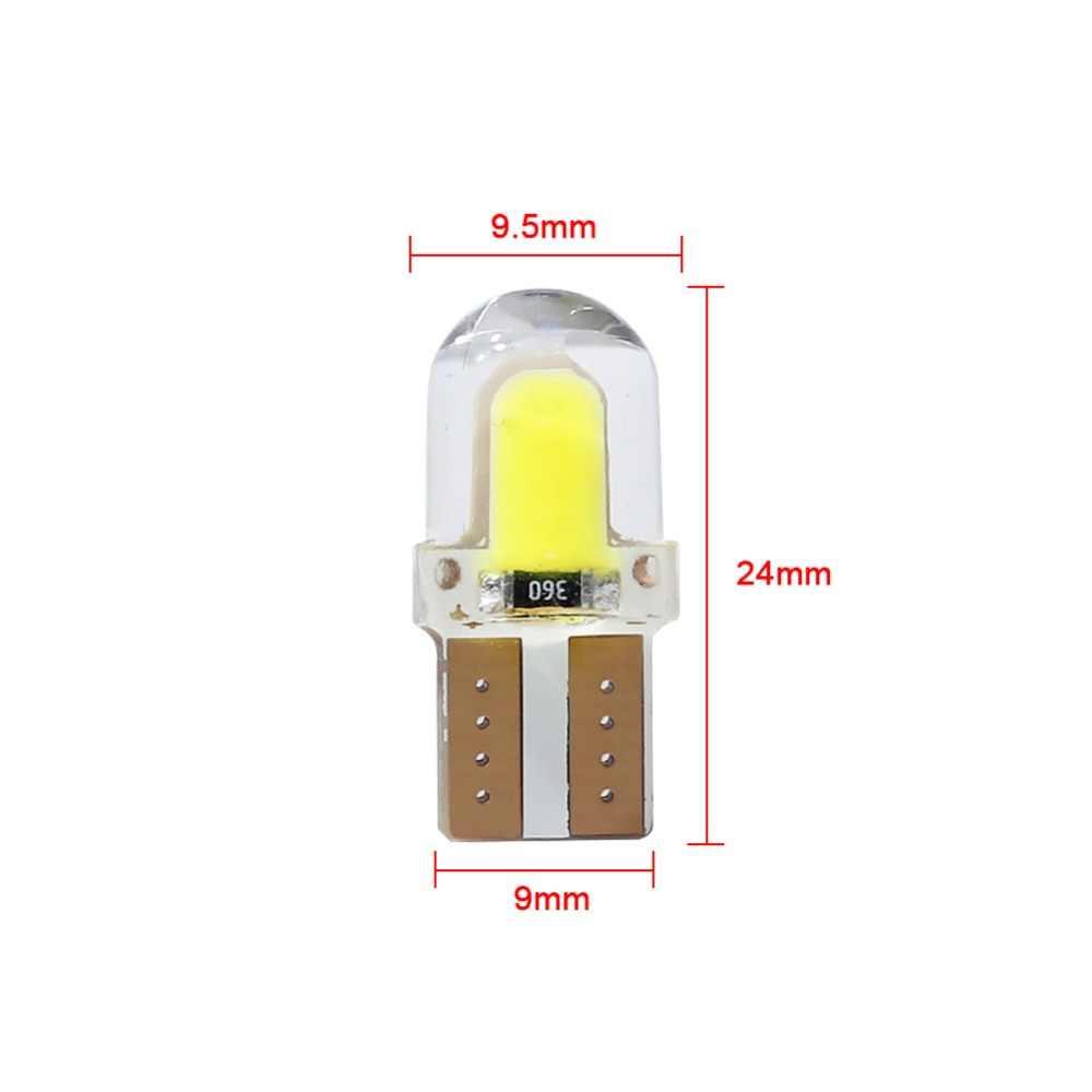Azgiant 2 Pcs LED W5W T10 194 168 W5W COB 8SMD LED Parkir Bulb Auto Baji Clearance Lampu Terang Putih lisensi Lampu Lampu
