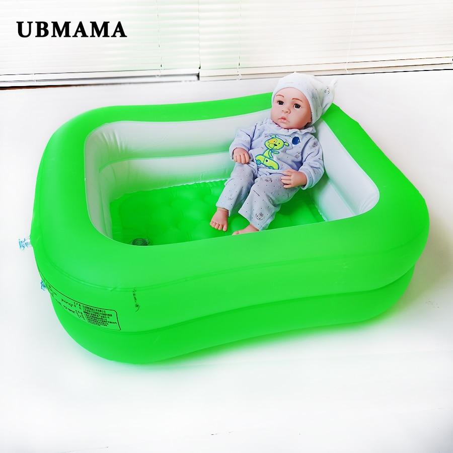 Newborn Plastic Inflatable Bathtub 2 Level Pure Color Inflatable Bottom Swimming Pool Inflatable Pool In Indoor Bathroom