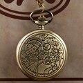 Vintage Bronze Siver/Doctor Who Colar Relógio de bolso Homens Senhoras Colar de Pingente de Presente para As Mulheres Homens P711-P953