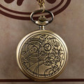 Vintage Bronze/ Siver  Doctor Who pocket Watch Necklace Men Ladies Necklace Pendant Gift  for Men Women P711-P953