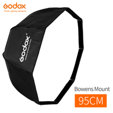Godox 95 cm 37.5in Faltbare Tragbare Achteckige Regenschirm Reflektor Softbox mit Bowens Halterung für Studio Flash Speedlite
