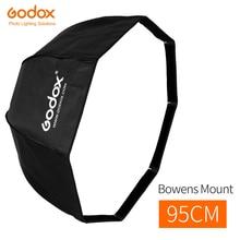 Godox 95 cm 37.5in pliable Portable octogonal parapluie réflecteur Softbox avec monture Bowens pour Studio Flash Speedlite