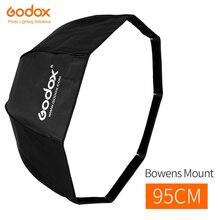 Đèn Flash Godox 95 cm 37.5in Gấp Gọn Di Động Hình Bát Giác Dù Phản Quang Softbox với Bowens Mount cho Phòng Thu đèn Flash