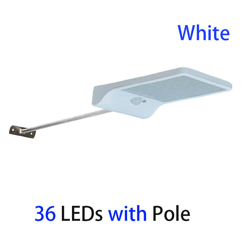 GBKOF 36LEDs PIR motion sensor Solar Street light 3 modes Outdoor light wall lamp Waterproof Energy Saving Yard Path Home Garde
