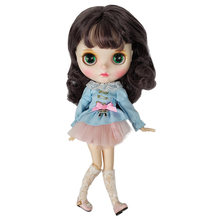 New Design Blyth Factory Doll With Short Curl Hair Suitable For Dress Up By Yourself DIY Change BJD Doll Toy Christmas Gift