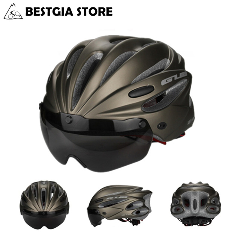 GUB High Density EPS Cycling Helmet With Goggle MTB Mountain Bicycle Sports Helmets Bike Brim Casco Cascos Ciclismo
