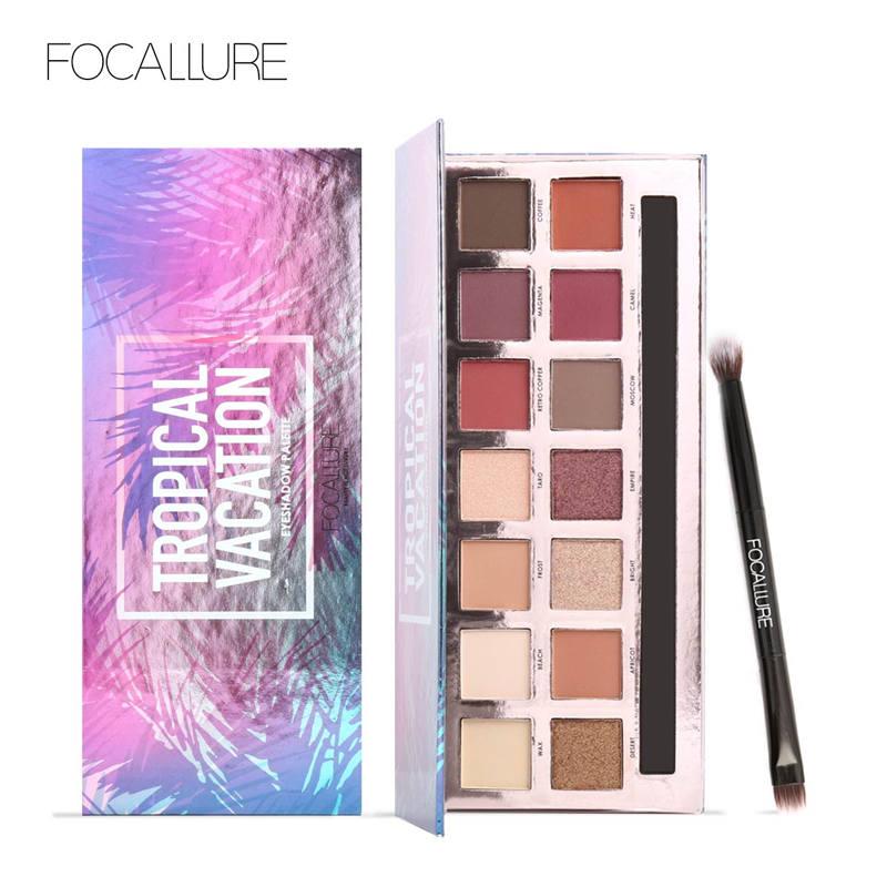 Focallure 14 colores Pro maquillaje brillo sombra de ojos pigmento belleza maquillaje sombra