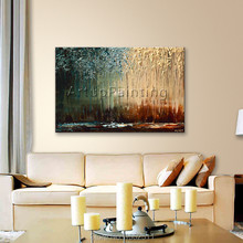 Modern abstract Hand painted canvas oil paintings knife landscape decorative wall art picture for living room cuadros decoracion