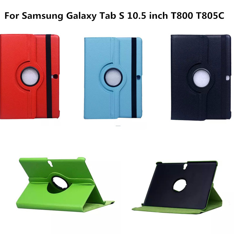 Flip Fashion PU Leather Stand 360 Rotating Case Cover For Samsung Galaxy Tab S 10.5 inch T800 T805 SM-T800 SM-T805C Tablet 360 rotary flip open pu case w stand for 10 5 samsung galaxy tab s t805 white