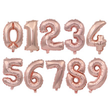 1pc 32 inch digital aluminum film balloon rose gold wedding Birthday party decoration number ballon