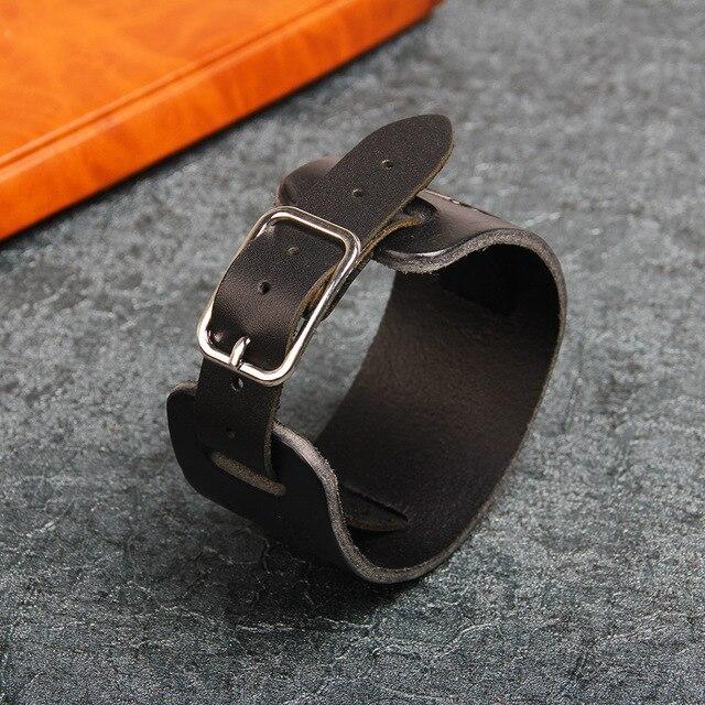 Фото janeyacy новый модный коричневый черный кожаный браслет повседневный цена