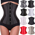 Lace Up Waist Cinchers Corset Underbust Body Shaper Lingerie Sexy Waist Trainer Slimming Shapewear Bodysuit Plus Size TYQ