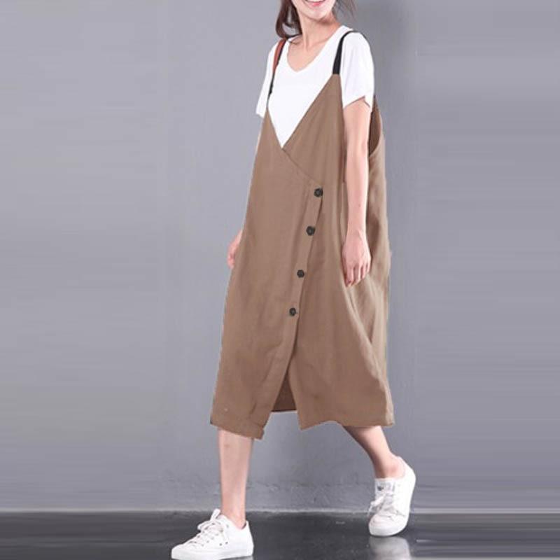 Beste Koop Plus Size 2018 ZANZEA Retro Vrouwen