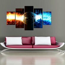 5 Panel Cartoon Naruto Uchiha Sasuke Ice And Fire Modern Home Wall Decor Canvas Picture Art HD Print Painting On Artworks