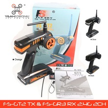 Flysky FS-GT2 RC remote control FS GT2 2.4G 2CH Radio Model RC Transmitter & Receiver FS GR3E Rc Car Boat YEAHDRONE