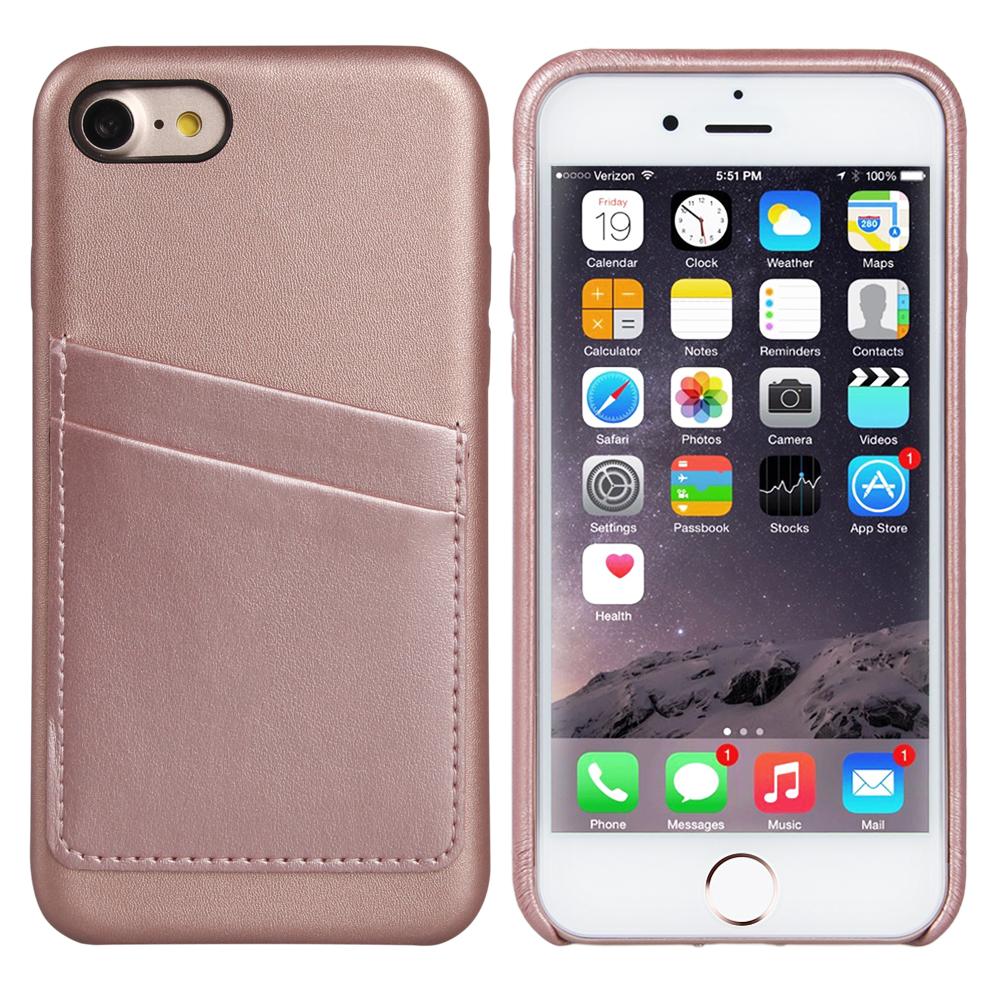 Phone Case Leather For iPhone 7 Premium Handcrafted Ultra Slim Back Case Cover with ID Credit Card Slot Holder for iPhone 7