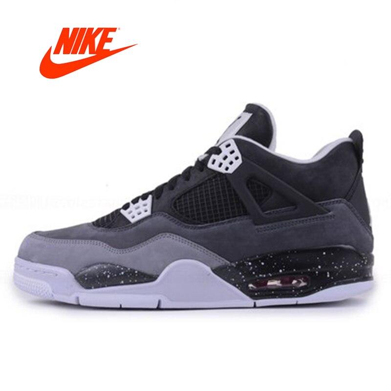 Официальный оригинальный Nike Air Jordan 4 Страх обновления AJ Oreo Для Мужчин's Баскетбольные кеды Спортивная обувь 626970-030
