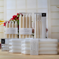 White Stick Candles Classic Candles Smokeless Pillar Wax Candlelight Wedding Decorative Christmas Dinner Lumino Velas Decor 044