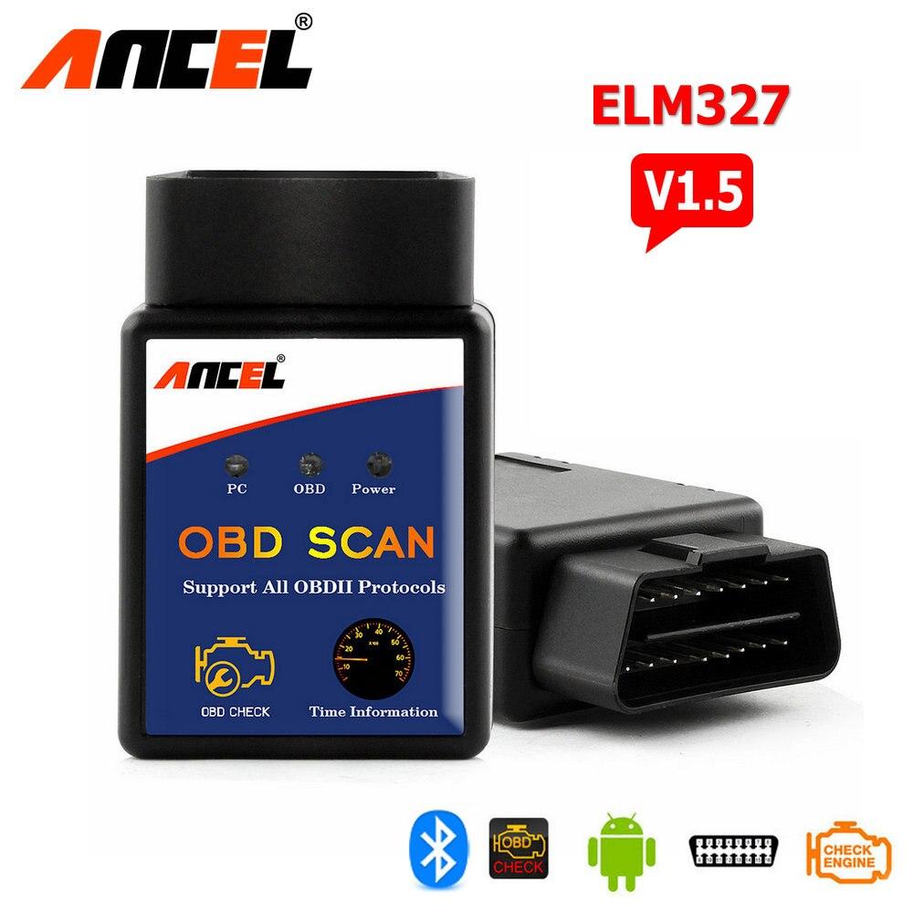 Prix pour Elm327 Bluetooth ELM 327 V1.5 V 1.5 OBD2 OBDII Adaptateur Scanner pour Android Couple Code Lecteur Outil De Diagnostic Ancel elm327