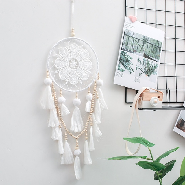 White Tapestry Dream Catcher