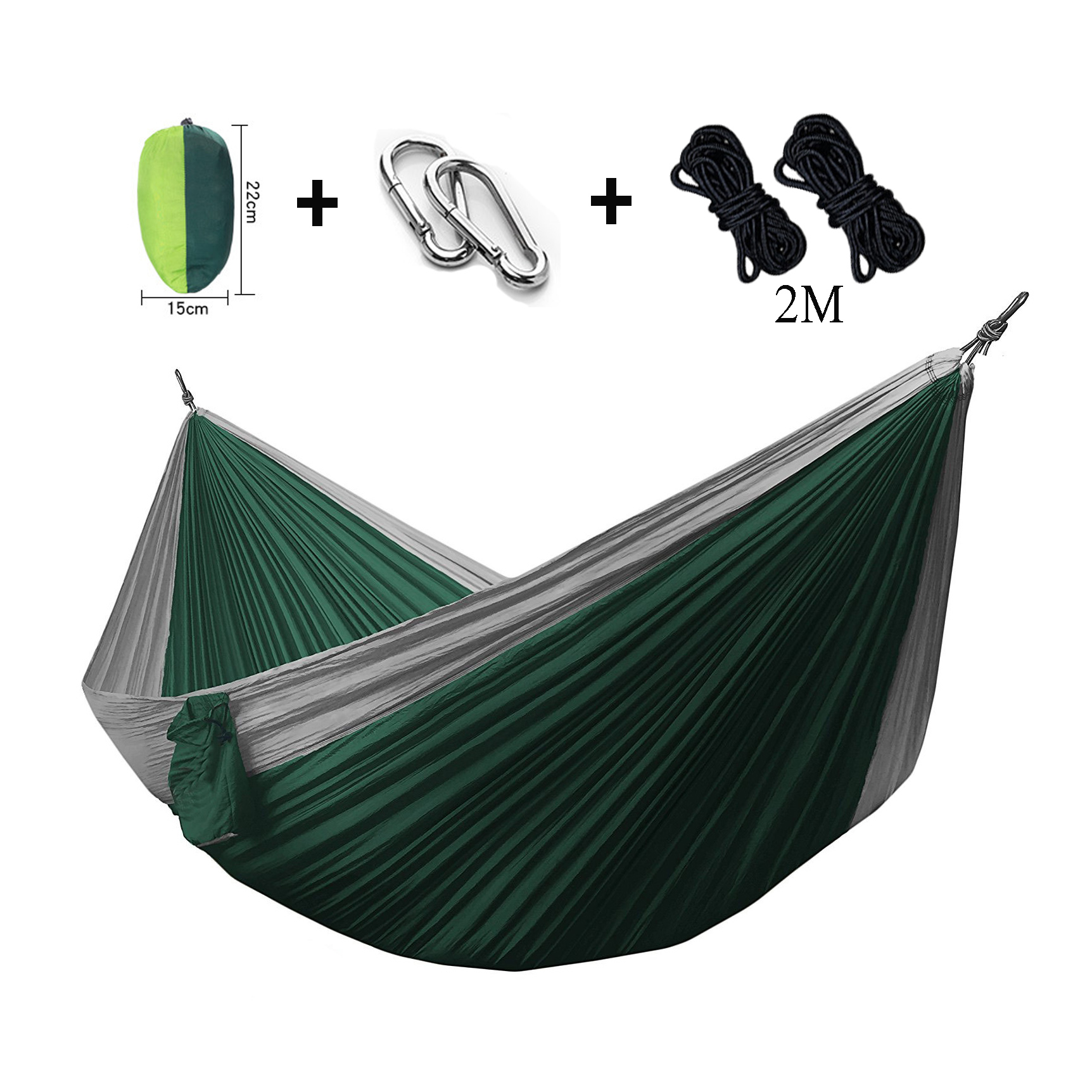 Assorted Color Double Hammock Lightweight Nylon Portable Hammocks 270*140cm Camping Swing  Hanging Sleeping camping hammock portable mosquito hammocks lightweight