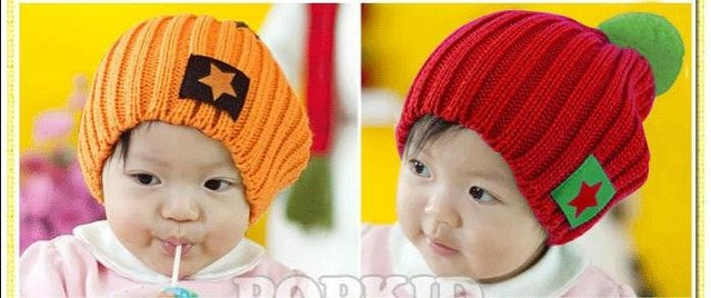 new style wholesale  five-star labeling caps child knitting hat winter cap Kid wind screen children warm hat