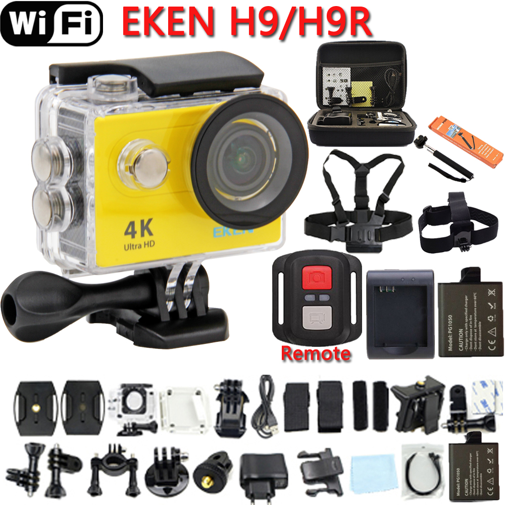 "Action Camera Original EKEN H9 OR H9R Ultra HD 4K 25fps WiFi 2.0"" 170D lens Helmet Cam pro underwater go waterproof Sport camera"