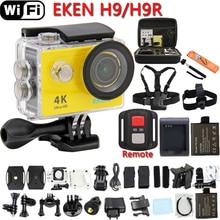 """Action Caméra D'origine EKEN H9 OU H9R Ultra HD 4 K 25fps WiFi 2.0 """"170D lentille Casque Cam pro sous-marine aller étanche Sport caméra"""