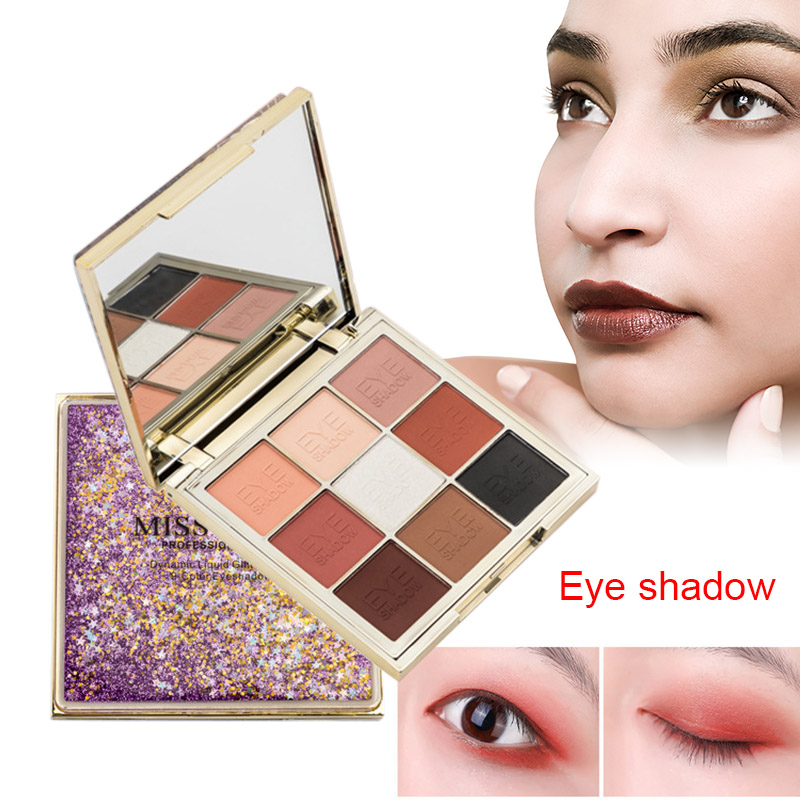 Fashion Quicksand Makeup Eye Palette 9 Color Glitter