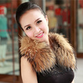 Real Fox Fur Collar Women Coat Winter 100% Natural Fox Fur Scarf  Collar Fashion Natural Warm Fur Solid Collar Scarves  C#02