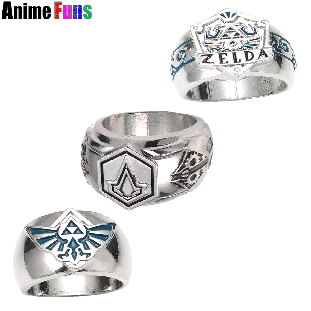 The Legend Of Zelda Assassins Creed Templar Order Logo Ring Ezio Game  Cosplay Jewelry For Women