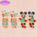 $ 0.69 baby earrings Promotion for your girl children gold plated bee camera butterfly heart ear clip  fashion Jewelry 7601