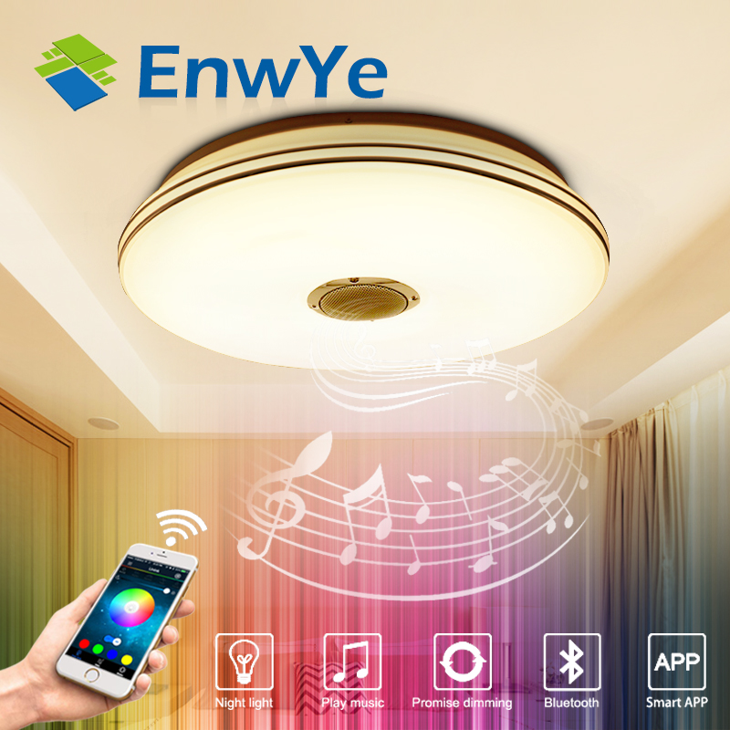 EnwYe RGB 36W LED ceiling Light with Bluetooth & Music 220V modern Led Dimmable ceiling lamp for 15 -30 Square meters 2017 new rgb dimmable 36w led ceiling light with bluetooth