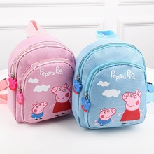 Peppa Pig George Cartoon Backpack Plush Stuffed Toys Child Girls Boys Kindergarten School Bag Wallet Bag For Kids Gift цена 2017