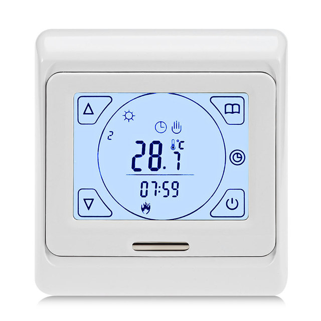 Weekly Programming Thermoregulator Touch Screen Heating Thermostat For Warm Floor Electric