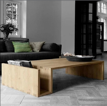 Nordic American Country Contracted Tea Table Solid Wood Furniture Retro Coffee  Table Ecological Wood Wax Japanese