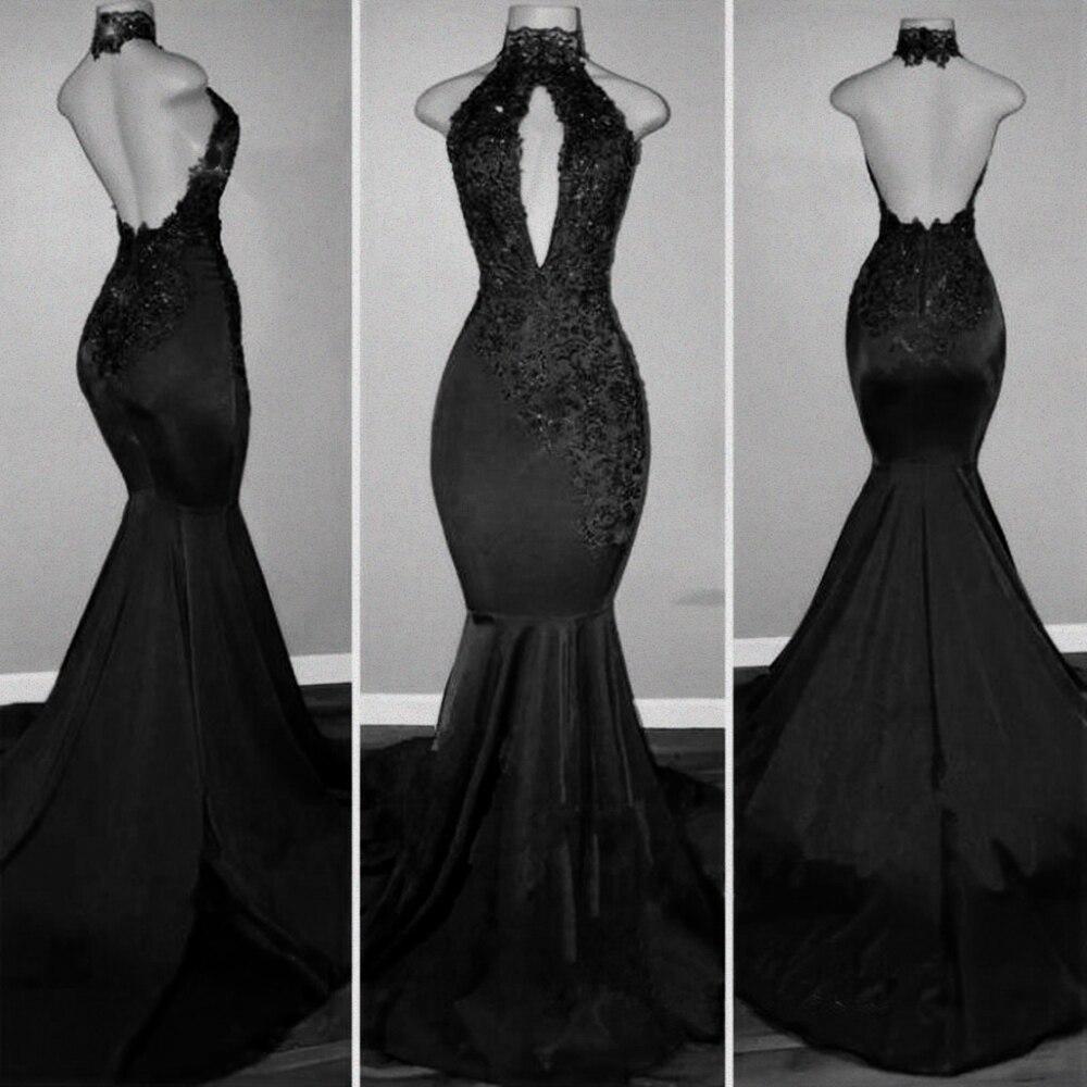 Robes De bal sirène rouge pour les filles africaines noires 2019 Vestido De Festa Sexy dos nu dentelle piste robes De soirée - 2