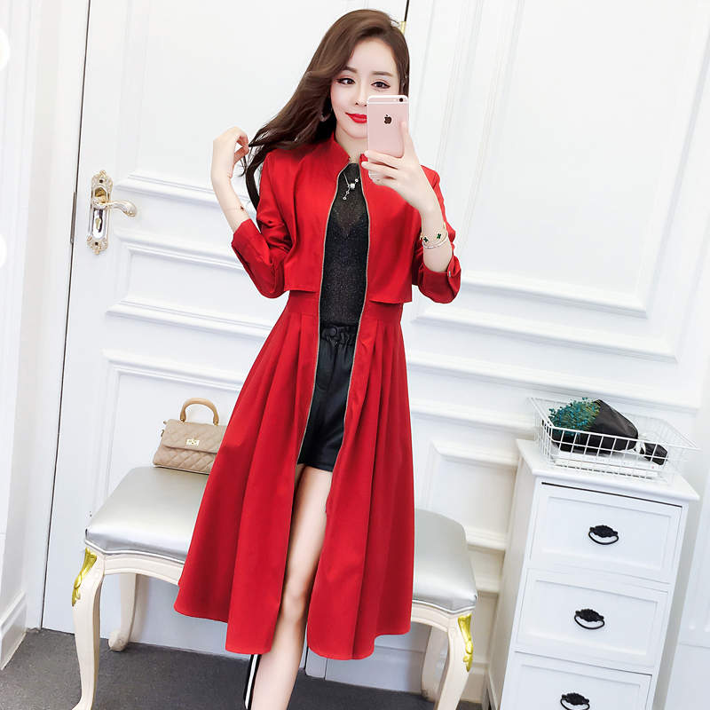2019 Spring Summer Long   Jacket   Womens Vintage Loose Windbreaker   Basic     Jackets   Coats Ladies harajuku Outerwear chaqueta mujer