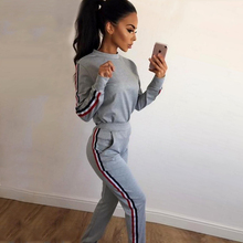 TAUPIN AM Hooded Pullover Women Tracksuit Long Sleeve Women Clothes Set 2017 Autumn Broken Holes Sporting Suit Female Tracksuit