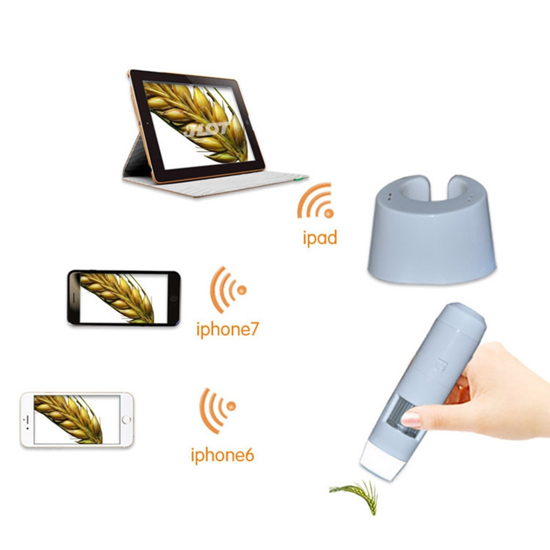 200x Digital Wifi Microscope HD Wireless Industral Microscope for PCB Inspection and Hai ...