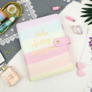 Image 3 - Jamie Notes Cute Pink Leather Binder Notebook A5A6 2019 Planner Sweet Girly Diary Book Office & School Gift Stationery Supplies