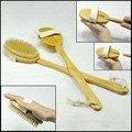 Mango largo Natural de madera de madera Bath Body Brush para baño con Natural cerdas de jabalí y desmontable Spa volver scrubber, 18 pulgadas