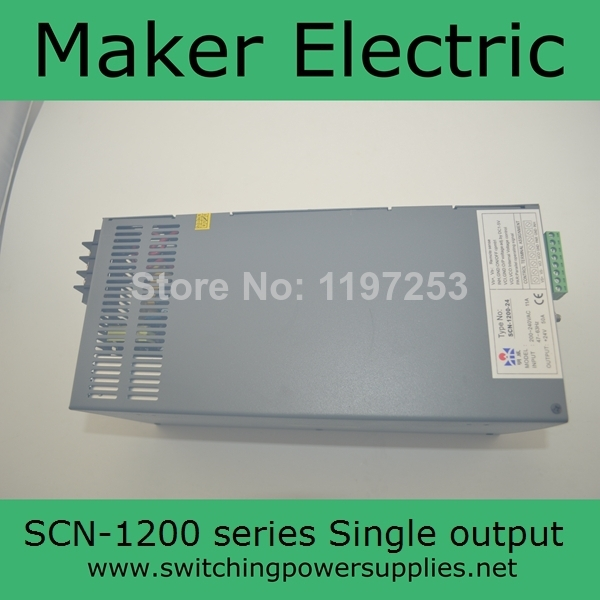 factory direct single Output Switching power supply  24v 50a SCN-1200-24 1200W