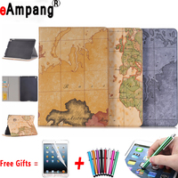 Premium World Map Pattern Protective Cover For Apple IPad 9 7 2017 Case With Card Slot