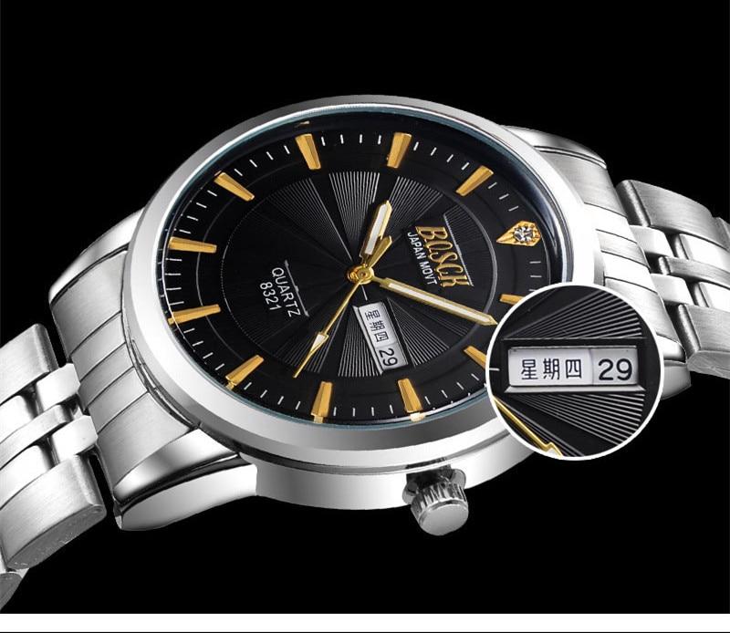 9800 Men Luxury Brand Chronograph Men Business Watch Waterproof Rose Gold Full Steel Men s Quartz