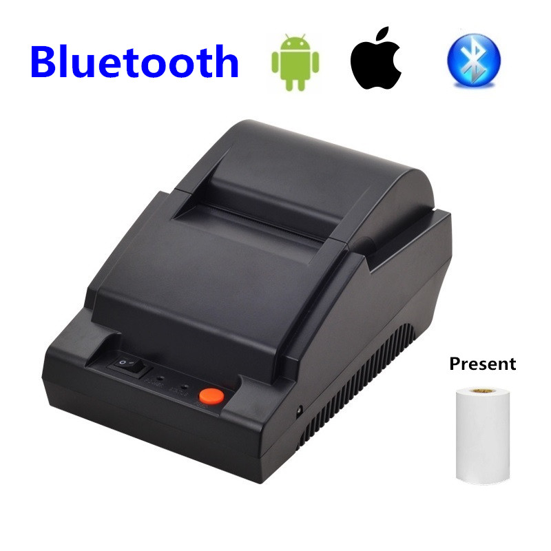 58mm Bluetooth Printer Wireless Bluetooth Android Small Receipt Ticket Thermal Printer Mini Portable Printer цена