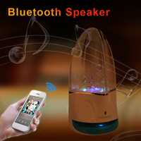 Subwoofer LED Music Fountain Water Dance Bluetooth Speaker With Voice Prompts TF Card Slot Stereo MP3