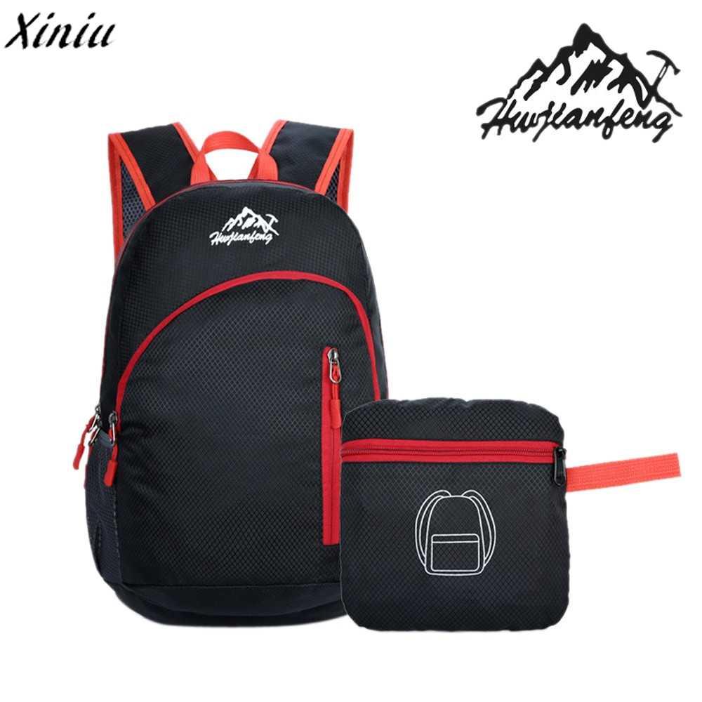 735174d25139 Hot Sale Durable Unisex Male Waterproof Folding Packable Lightweight Travel  Softback Backpack For Men Daypack Women s
