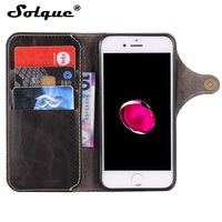 Real Genuine Cow Leather Wallet Cover Case For IPhone 6 For IPhone 6S 4 7 Inch